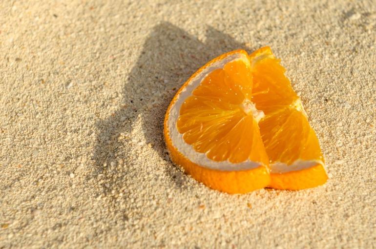 Orange Slices in Sand