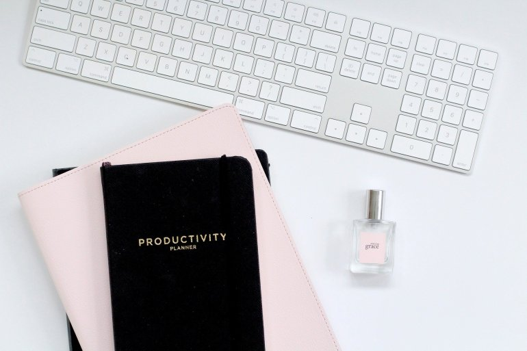 Productivity Planner and Keyboard